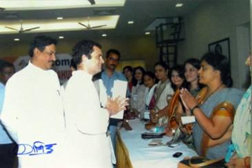 Jyotsana Vispute and Rahul Gandhi