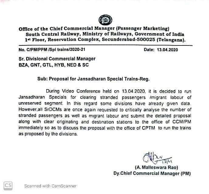 Letter Of Railway